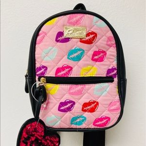 NWT Luv Betsey Johnson Small Backpack w/ Kisses